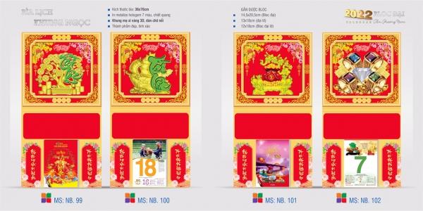 Bìa lịch gắn bloc - Bìa khung ngọc